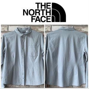 Large North Face Women's Teal-Cream Top